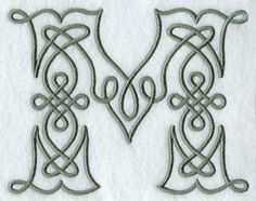 Celtic Knotwork Letter M - 5 Inch
