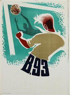 Lauritz.com - Grafik - Kolind. Plakat, 'B.93', litografi, 1947 - DK, Vejle, Dandyvej