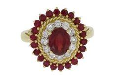 14K 2.7 Carat Diamond Ruby Ring