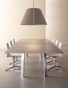 ultra modern wood veneer conference table with metal table legs