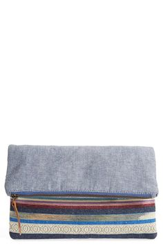 Sole+Society+Woven+Geometric+Foldover+Clutch+available+at+#Nordstrom