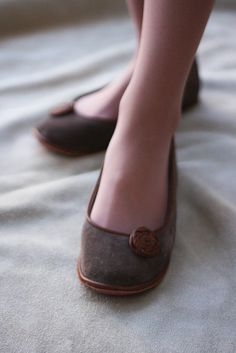 Modern Romance - Handmade Leather flat shoes