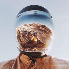 Classic motorcycle helmet//