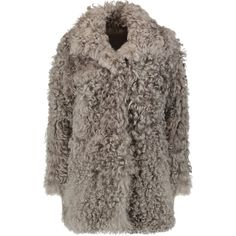 A.L.C. Women's Curly Hair Shearling Lamb Coat ($2,195) ❤ liked on ...