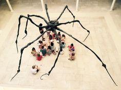 Talleres de verano en el Museo Picasso Málaga #NiñosenelPicasso #araña #LouiseBourgeois