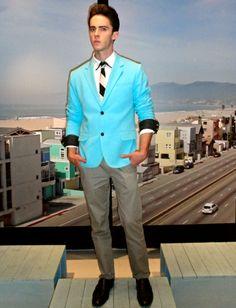 Sacos color menta para hombre, son un must para la Primavera del 2013, ve este de G by Guess cc @EdySmol
