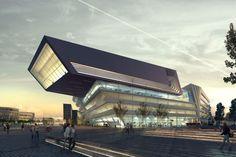 Wirtschaftsuniversität Wien - Vienna - AUSTRIA  이게 학교다. 정말 건물 하나는 끝내주는구나.