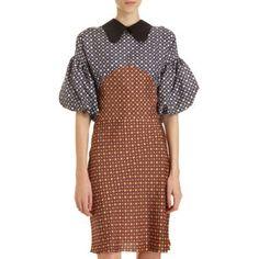 Puffy Sleeve Dots Dress  I love Marni