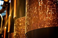 When you first walk into the #StarbucksRoastery you're immediately greeted by a beautiful glowing atmosphere. In order to create this effect, our designers chose copper as our main design element to emulate the warmth of the #coffee roasters in the space and to truly elevate every customer's experience. #tobeapartner #tbap #coffeejourney #reserveforward #☕ Starbucks Reserve, This Is Us, Glow, Designers, Chandelier, Copper, Ceiling Lights, Space, Create