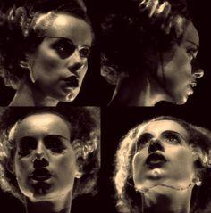 Elsa Lanchester as The Monster's Mate in Bride of Frankenstein (1935).