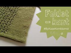 Foldet kant med elastisk aflukning i strik - YouTube