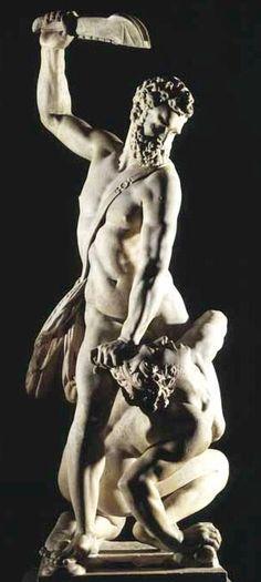 #Samson #Slaying a #Philistine, about 1562, #Giambologna (1529-1608). #Florence, #Italy.