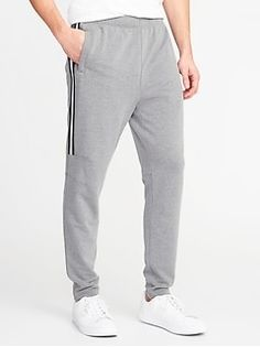 Go-Dry Built-In Flex Mesh-Stripe Track Pants for Men - oldNavy Mens Activewear, Shop Old Navy, French Terry, Active Wear, Sweatpants, Track, Mesh, Fashion, Moda