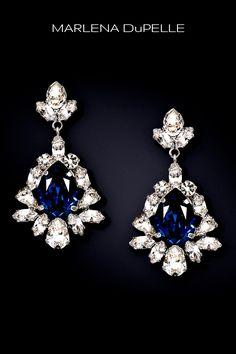 EMILIE - Sapphire Crystal Teardrop Earrings