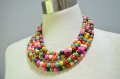 The Michelle Multi Color Howlite Chunky by danaleblancdesigns