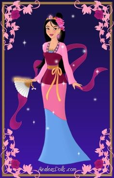Disney Princess Glamorous Fashion - Belle | Mulan { Deluxe Edition } by kawaiibrit.deviantart.com