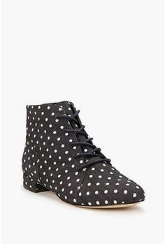 dotted canvas boot
