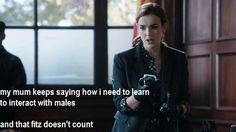 My mum keeps saying how I need to learn to interact with males. And that Fitz doesn't count. || Jemma Simmons || AOS 1x08 The Well || 500px × 281px || #humor
