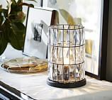 CFL Adeline Faceted Crystal Ambient Accent Lamp, Bronze finish