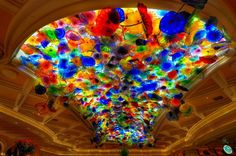 Chihuly Ceiling in the Main Lobby of the Bellagio.