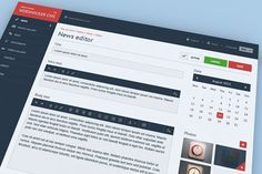 CMS layout found on Dribbble.