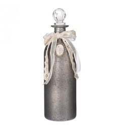 GLASS BOTTLE IN GREY COLOR 7X7X20