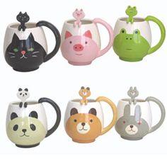 Kawaii mug cup from Decole Japan! The Sims, Sims 4, Japanese Gifts, Animal Mugs, Cute N Country, Cool Mugs, Ceramic Cups, Mug Cup, Coffee Cups