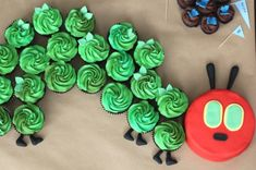 Very Hungry Caterpillar party idea: Awesome cupcake cake from Rhubarb and Rose