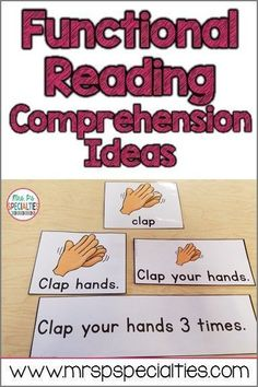 Functional Reading Comprehension Demonstrating reading comprehension can be very challenging for students in special education, especially students with autism. Here are ideas for building and assessing reading comprehension. Special Education Activities, Autism Education, Autism Activities, Special Education Classroom, Education Quotes For Teachers, Quotes For Students, Autism Classroom, Education Logo, Autism Resources