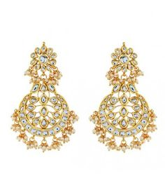 Kundan and Pearl Bridal Earring