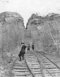 Photo courtesy of La Crosse Public Library Archives and La Crosse County Historical Society La Crosse Wisconsin, House On The Rock, Base Jumping, Public, Local History, Historical Society, Lacrosse, Railroad Tracks, Images