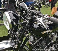The 1951 Vincent Black Shadow V-twin was the fastest motorcycle of its day. British Motorcycles, Triumph Motorcycles, Vincent Black Shadow, Vincent Motorcycle, Touring Bike, Old Bikes, Traffic Light, Engine Types, Street Bikes