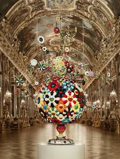 One of Japanese Artist Takashi Murakami's Statues on display at Versailles