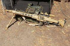 German MG3 general purpose machine gun chambered in 7.62x51mm NATO.: