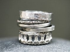 Cathy Waterman platinum rings