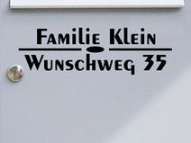 Adresse 01 - Briefkastentattoo - Wunschtext