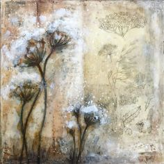Laly Mille - From the Meadow Paintings Series Mixed Media Journal, Mixed Media Canvas, Mixed Media Art, Mixed Media Painting, Mixed Media Tutorials, Summer Painting, Sad Art, Art Background, Medium Art
