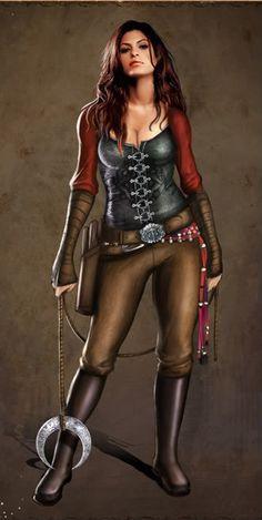 Halloween.... Little Red Riding Hood Werewolf Hunter... she just needs scars