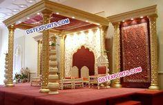 #Wedding #Golden #Mandap #Set #Dstexports