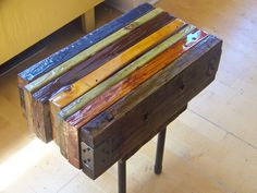 Reclaimed wood side table (Made by one of my @digintent clients. Pretty cool.) $215.00, via Etsy.