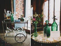 gatsby inspired sign in tables | Modern Gatsby Party | Green Wedding Shoes Wedding Blog | Wedding ...