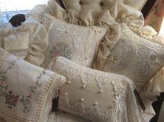 LACE PILLOWS CUSTOM PILLOWS BY CLAIRE