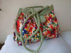 Sacs à main vert pâle et fleurs sac femme couture sac par SUNSUELLE