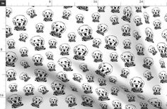 Goldendoodle Baby Fabric By The Yard, Black White Nursery Fabrics For Babies With Dog, Organic Cotton Muslin Fabric, Ships From US or EU Nursery Fabric, Baby Fabric, Muslin Fabric, Double Gauze Fabric, Fleece Fabric, Cotton Muslin, Black White Nursery, Tie Blankets, Baby Dogs