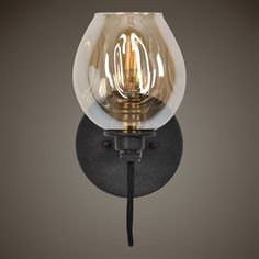 Versatile 1 Light Sconce In A Manhattan Finish Giving A Deep Weathered Bronze Look With Antique Brass Accents And Featuring Organic Golden Plated Glass Shade Gi Wall Sconce Lighting, Wall Sconces, Cabin Lighting, Farmhouse Lighting, Hanging Lights, Wall Lights, Barn Wood Picture Frames, L And Light, Gold Light