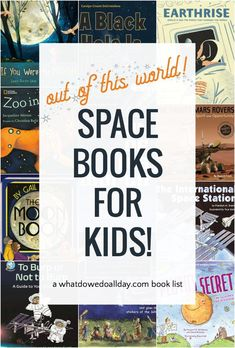 Best space books for kids of all ages and reading levels. Nonfiction books about the moon, planets, stars and more for preschool, elementary and middle school. Space Books For Kids, Space Activities For Kids, Best Children Books, Childrens Books, Learning Techniques, Space And Astronomy, Space Theme, Science Books