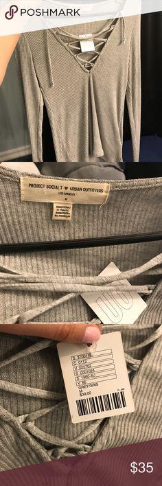 Urban outfitter shirt Grey ribbed long sleeve Urban Outfitters Tops Tees - Long Sleeve
