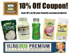 10% Off Coconut Products