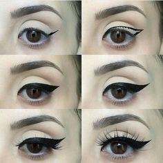 How to apply eyeliner Know about trendy eye makeup - Pretty Eye Makeup, Perfect Makeup, Pretty Eyes, Makeup Looks, Makeup For Big Eyes, Simple Makeup, Natural Makeup, Make Up Tutorial Contouring, Makeup Tutorial Eyeliner