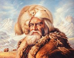 by Miguel Paredes - Native American Mountain Man Rendezvous, Jeremiah Johnson, Fur Trade, Bear Claws, Historical Art, Guy Pictures, Wildlife Art, Old West, Western Art